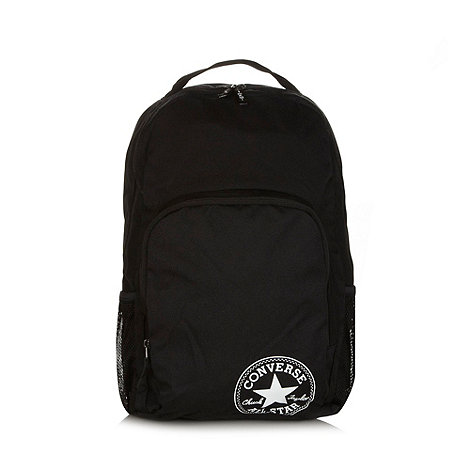 Converse - Black canvas backpack