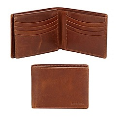Dents - Brown leather billfold wallet in a gift box