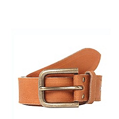 Mantaray - Tan leather embossed detail belt