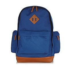 Red Herring - Blue panelled backpack