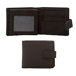 Thomas Nash - Black woven popper wallet