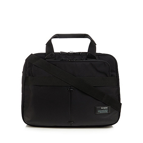 Ben Sherman - Black dogtooth textured messenger bag