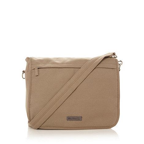 Ben Sherman - Natural canvas courier bag