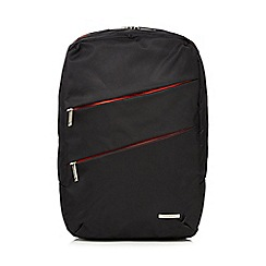Kingsons - Black padded laptop backpack