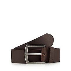 BEN SHERMAN - Brown leather belt