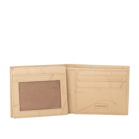 Mantaray - Natural printed leather wallet