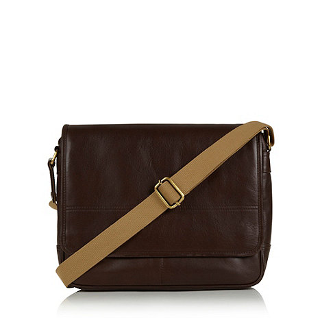RJR.John Rocha - Designer brown leather +Heritage+ despatch bag