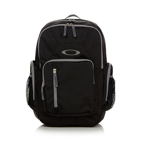 Oakley - Black canvas multi pocket backpack