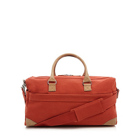 J by Jasper Conran - Designer orange canvas holdall bag
