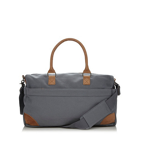 J by Jasper Conran - Designer grey canvas holdall bag