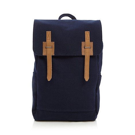 J by Jasper Conran - Designer navy canvas backpack