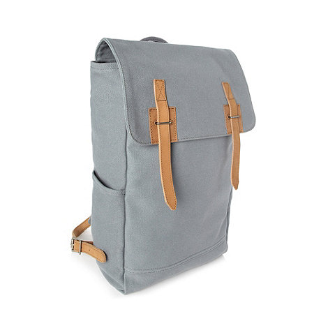 J by Jasper Conran - Designer grey canvas backpack