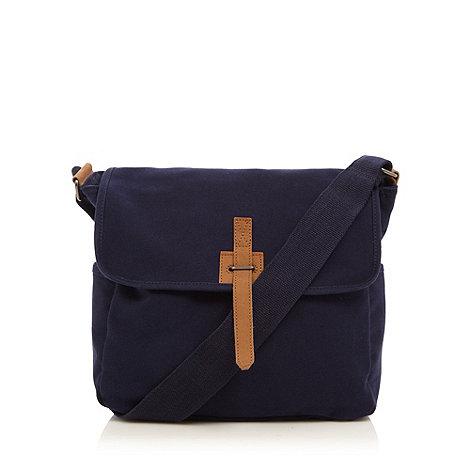 J by Jasper Conran - Designer navy canvas utility bag
