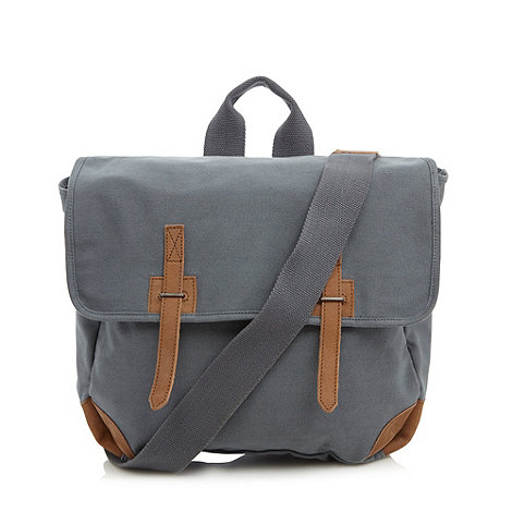 J by Jasper Conran - Designer grey canvas despatch bag