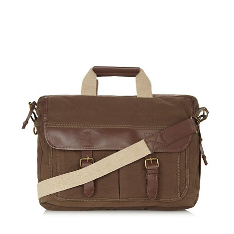 RJR.John Rocha - Designer khaki buckle laptop bag