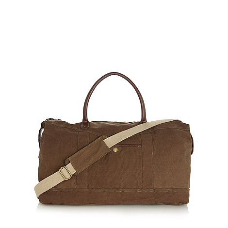 RJR.John Rocha - Designer khaki large canvas holdall bag