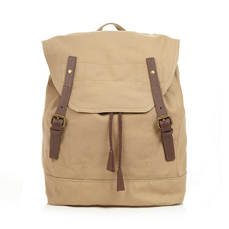 RJR.John Rocha - Designer natural canvas leather trim backpack