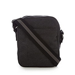Mantaray - Dark grey canvas cross body bag