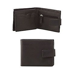 Hammond & Co. by Patrick Grant - Designer black leather tab wallet