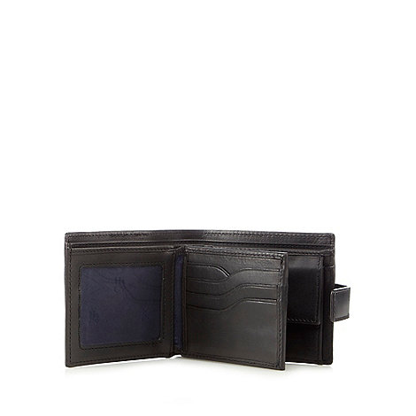Hammond & Co. by Patrick Grant - Black leather billfold tab wallet in a gift box