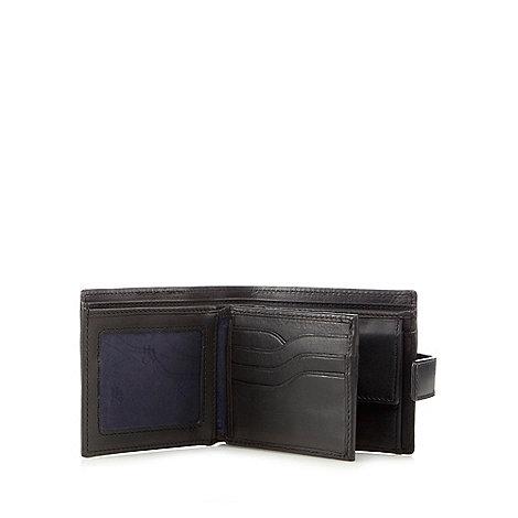 Hammond & Co. by Patrick Grant - Designer black leather billfold tab wallet