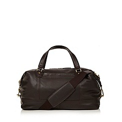 J by Jasper Conran - Designer brown unstructured leather holdall bag