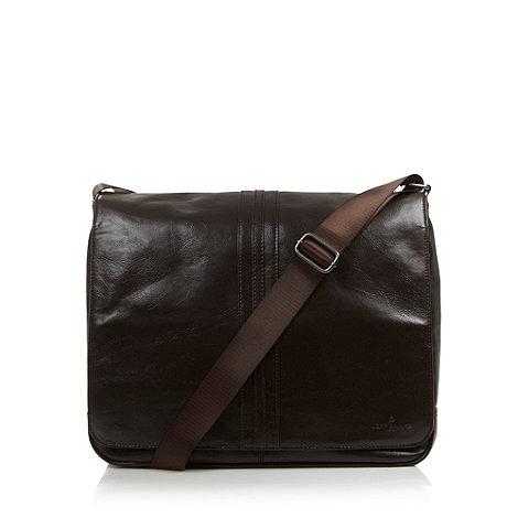 Jeff Banks - Designer dark brown PU despatch bag
