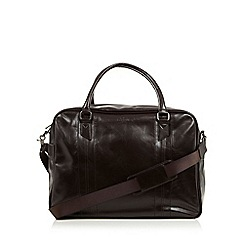 Jeff Banks - Designer dark brown PU holdall bag