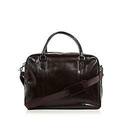 Jeff Banks - Designer dark brown PU holdall bag