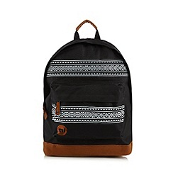 Mi-Pac - Black aztec print backpack