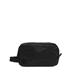 Mi-Pac - Black tumbled leatherette washbag