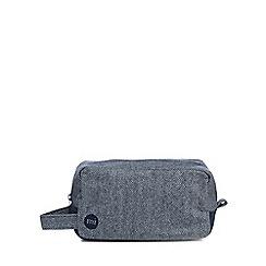 Mi-Pac - Navy herringbone wash bag