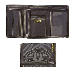 Animal - Black applique logo trifold canvas wallet
