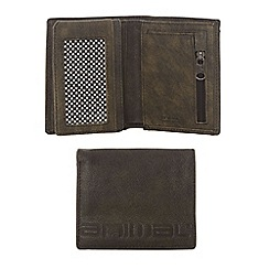 Animal - Grey debossed logo leather wallet