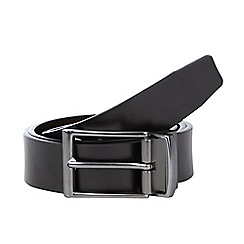 J by Jasper Conran - Designer black leather coated belt