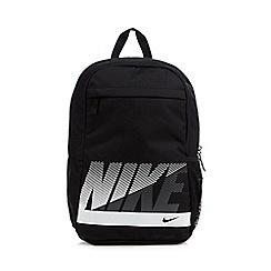 Nike - Black classic logo printed backpack
