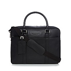 Hammond & Co. by Patrick Grant - Designer black grained leather laptop bag