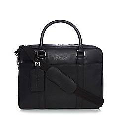 Hammond & Co. by Patrick Grant - Designer black grained leather laptop bag