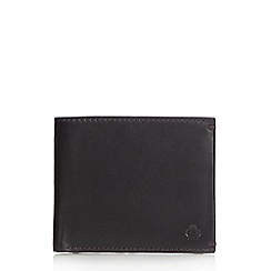 Jeff Banks - Designer black leather contrast stitched wallet