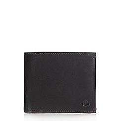 Jeff Banks - Designer black leather contrast stitched wallet
