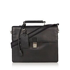 Hammond & Co. by Patrick Grant - Designer black detachable strap satchel bag