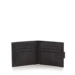Mantaray - Black shiny leather wallet in gift tin