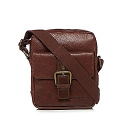 RJR.John Rocha - Designer brown grained leather cross body bag