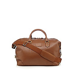 RJR.John Rocha - Designer brown large waxy leather holdall