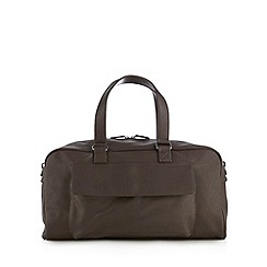 Red Herring - Brown faux leather holdall