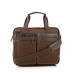 RJR.John Rocha - Designer khaki twill laptop bag