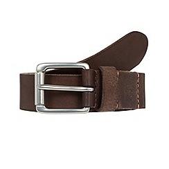 RJR.John Rocha - Designer brown leather stitched trim belt