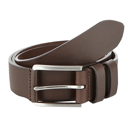 Maine New England - Big & tall brown leather belt