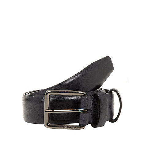 J by Jasper Conran - Designer black double leather keeper belt