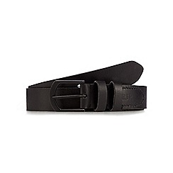 RJR.John Rocha - Big and tall designer black stitched leather belt